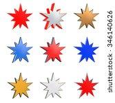 3d star in different element...   Shutterstock . vector #346140626