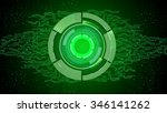 abstract green technology... | Shutterstock .eps vector #346141262