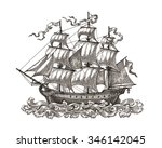 ink and pen drawing  ancient...   Shutterstock . vector #346142045