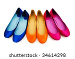 Woman Shoes Isolated On The...