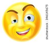 a charming emoji emoticon...   Shutterstock . vector #346145675