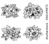flower set  | Shutterstock .eps vector #346149872