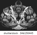 terrible gorilla athlete | Shutterstock .eps vector #346150445