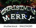 christmas letter decoration | Shutterstock . vector #346154285