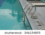 pool with a ladder climb | Shutterstock . vector #346154855