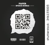 bar and qr code icons. scan... | Shutterstock .eps vector #346155005