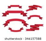 banner ribbons vector set    Shutterstock .eps vector #346157588