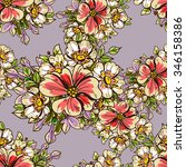 abstract elegance seamless... | Shutterstock . vector #346158386