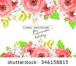 wedding invitation cards with... | Shutterstock .eps vector #346158815