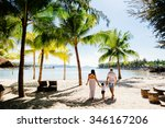 unidentified family vacation on ... | Shutterstock . vector #346167206