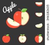 vector apple  flat design | Shutterstock .eps vector #346182635