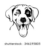 Merry Muzzle Dogs  Vector...