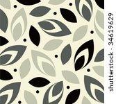 vector leaf background design | Shutterstock .eps vector #34619629