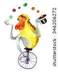 watercolor monkey big nose ... | Shutterstock . vector #346206272