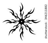tattoo tribal vector design... | Shutterstock .eps vector #346211882