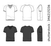 men's clothing set in white and ...   Shutterstock .eps vector #346215236