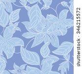 seamless flower background  ... | Shutterstock .eps vector #346215572