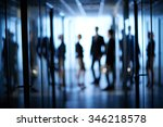 blurred motion of business team ... | Shutterstock . vector #346218578