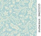 floral seamless pattern. hand...   Shutterstock . vector #346221215