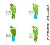 Set Of Footprints Of Green...