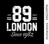 london. vintage vector print... | Shutterstock .eps vector #346223996