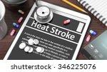 "tablet with ""heat stroke"" on... | Shutterstock . vector #346225076"