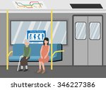 priority seat in metro subway... | Shutterstock .eps vector #346227386