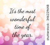 quote about christmas and... | Shutterstock . vector #346229648