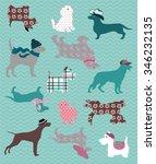 dog pattern   Shutterstock .eps vector #346232135