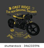 motorcycle illustration with... | Shutterstock .eps vector #346233596