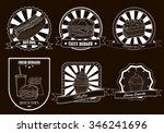 set of vintage badges and... | Shutterstock .eps vector #346241696