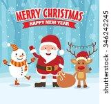 vintage christmas poster design ...   Shutterstock .eps vector #346242245