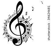 music theme | Shutterstock .eps vector #34624681