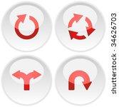 arrow set vector. set of design ... | Shutterstock .eps vector #34626703