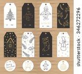 winter  new year  christmas... | Shutterstock .eps vector #346272296