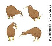 cute cartoon kiwi birds set....   Shutterstock .eps vector #346272338