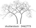 Black  Stylized Ornamental Tree ...