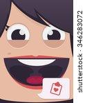 woman face vector illustration | Shutterstock .eps vector #346283072
