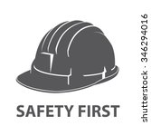 safety hard hat icon symbol...