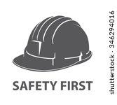 Safety Hard Hat Icon Symbol...
