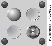 set of blank grey buttons for... | Shutterstock . vector #346295138