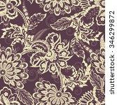 folkloric batik vector ornament.... | Shutterstock .eps vector #346299872