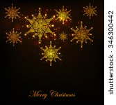 merry christmas | Shutterstock .eps vector #346300442