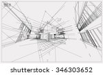 abstract 3d render of building... | Shutterstock .eps vector #346303652