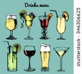 Drinks Menu. Hand Sketched...