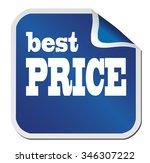 "blue sticker ""best price"" on a... | Shutterstock .eps vector #346307222"