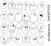 facial expressions | Shutterstock .eps vector #346307525