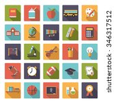 education icon vector set. set... | Shutterstock .eps vector #346317512