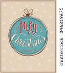 merry christmas card with... | Shutterstock .eps vector #346319675