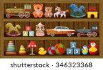 shop of vintage toys. vector | Shutterstock .eps vector #346323368
